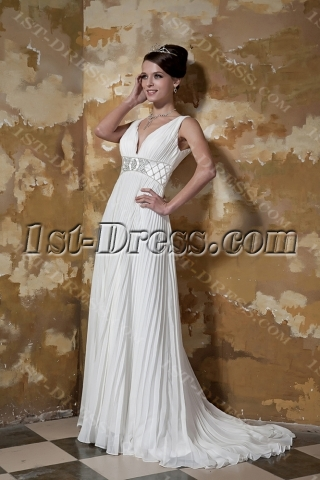Pleat Simple Plus Size Wedding Dresses Atlanta GG1097
