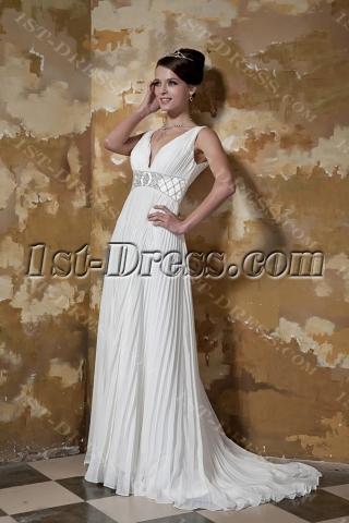 Pleat Simple Plus Size Wedding Dresses Atlanta GG1097