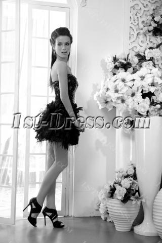 Pretty Black Short Sweet 16 Gown IMG_0091