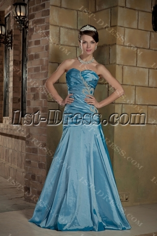 Pretty Blue Prom Dress 2012 with Corset Back GG1012