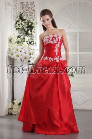 Red Long Clearance Bridesmaid Gown IMG_9955