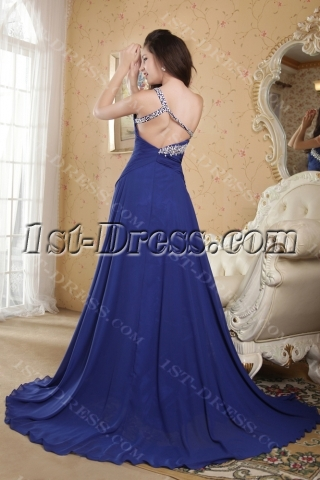 Royal Blue Sexy Graduation Dresses for College under $200 IMG_5178