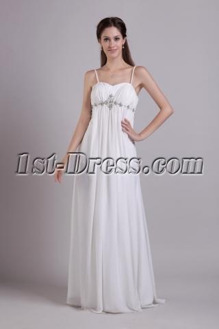 Spaghetti Straps Maternity Wedding Dress for Plus Size 0778