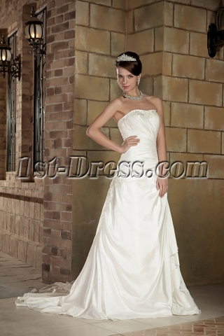 Strapless Modest Wedding Dresses Cheap GG1005