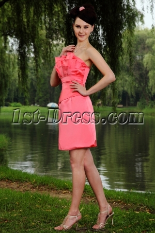 Stunning Strapless Mini Sweet 16 Gown IMG_0890