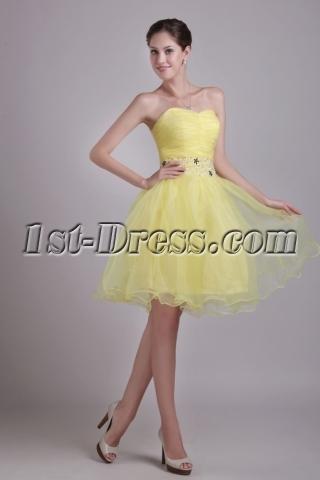 Sunflower Color Short Cocktail Dress 0947