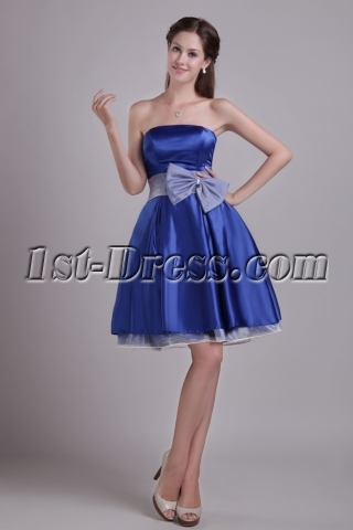 Sweet Royal Blue Short Homecoming Dress 0930