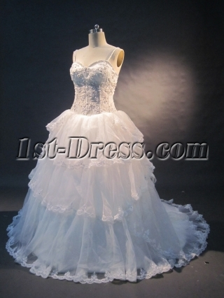 Sweetheart Natural Waist Satin Organza Plus Size Wedding Dress 1491
