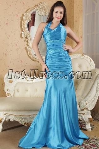 Turquoise Sheath Sexy 2012 Prom Dresses under 200 IMG_5255