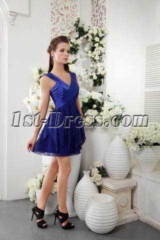 Unique Short Royal Blue Graduation Dress IMG_0174