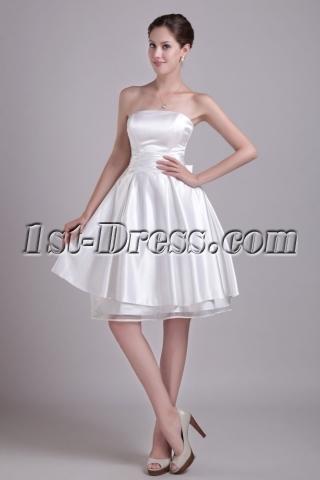 White Inexpensive Homecoming Dresses Short 0968