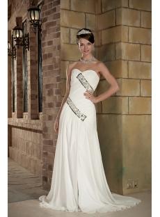 2012 Sweetheart Long Beach Wedding Dresses under 200 GG1009