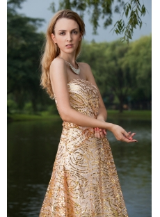 2013 Gold Sequins Prom Dresses IMG_8019