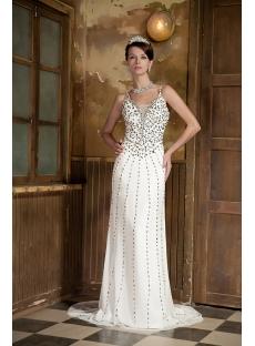 2013 Luxurious Spaghetti Straps Evening Dress Long GG1019