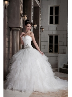 2013 Modest Ball Gown Wedding Dresses GG1092