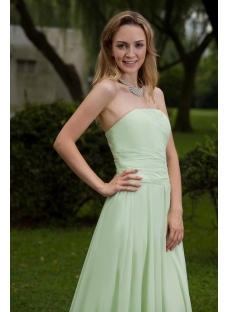 2013 Simple Sage Long Evening Dresses on Sale IMG_7662