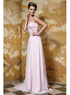 Affordable Long Pink Prom Dress 2012 with Train GG1040