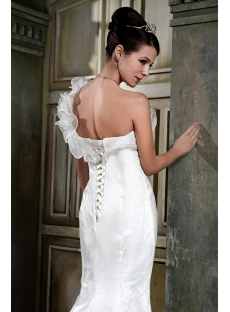 Asymmetrical Neckline Mermaid Bridal Gowns GG1073