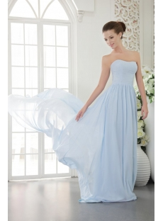 Baby Blue Cheap Chiffon Long Evening Dress 2012 IMG_9553