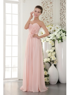 Beautiful Chiffon Pearl Pink Prom Gown 2012 Img 9518 1st