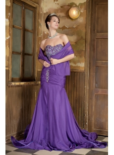 Beautiful Long Purple Prom Dress 2012 GG1017