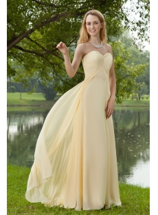 Beautiful Long Yellow Evening Dresses Chiffon 2013 IMG_8259