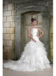 Beautiful White Masquerade Ball Gown Wedding Dress GG1082