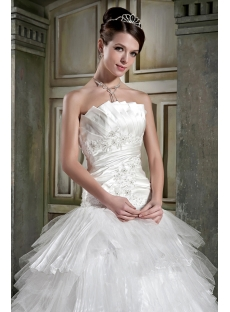 Beautiful White Masquerade Ball Gown Wedding Dress GG1082