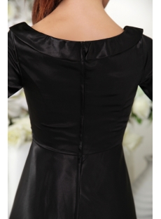 Black Modest Bridesmaid Dress with Sleeves IMG_0269
