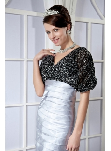 Black and Silver Short Mother of The Bride Dresses GG1023