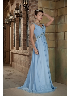 Blue Long Maternity Formal Prom Dress GG1010