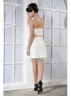Bohemia Exclusive Gold and White Short Graduation Dress GG1024