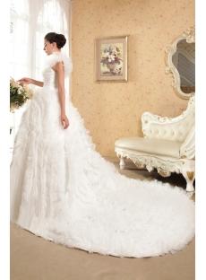 Brilliant One Shoulder Luxurious Wedding Dresses 2013 IMG_5737