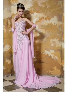 Brilliant Pink 2013 Evening Dress with Slit Front GG1037