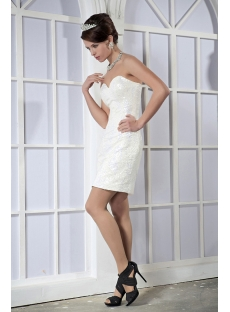 Brilliant White Sequins Mini Graduation Dress GG1025