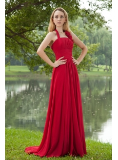 Burgundy Halter Charming Formal Evening Dresses for Weddings IMG_8239