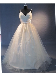 Champagne Floor Length Taffeta Tulle Quinceanera Dress  1502
