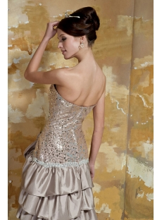 Champagne High-Low Prom Dresses Cheap with Front Slit GG1052
