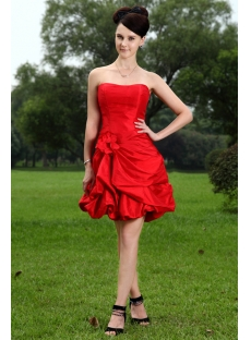Charming Short Red Quince Dresses IMG_1083