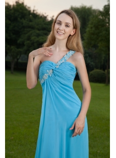 Cheap Aqua Sexy Prom Gown with One Shoulder IMG_8466