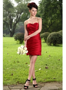 Cheap Burgundy Short Bridesmaid Dress IMG_1040