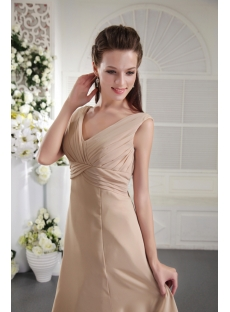 Cheap Knee Length Champagne Bridesmaid Dress 2012 IMG_0050