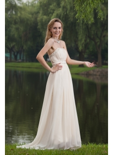 Cheap Strapless Romantic Beach Bridal Gowns IMG_7746