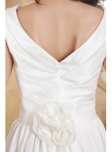 Cheap V-neckline Casual Wedding Dresses for Outdoor Weddings IMG_5319