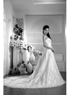 Cheap Western Strapless Bridal Gown 2012 IMG_997