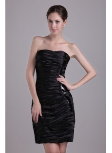 Chic Little Black Short 2011 Prom Dress 1027