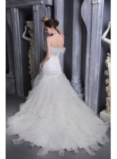 Chic and Beautiful Wedding Dress with Strapless 1078