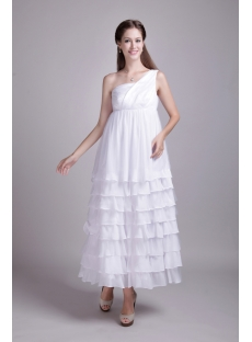 Chiffon One Shoulder Maternity Bridal Party Dresses IMG_0643