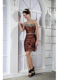 Chocolate Winter Cocktail Dress with Sleeves Jacket GG1070