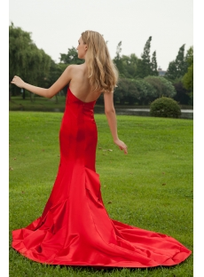 Discount 2013 Stunning Red Satin Sheath Bridal Gown IMG_8039